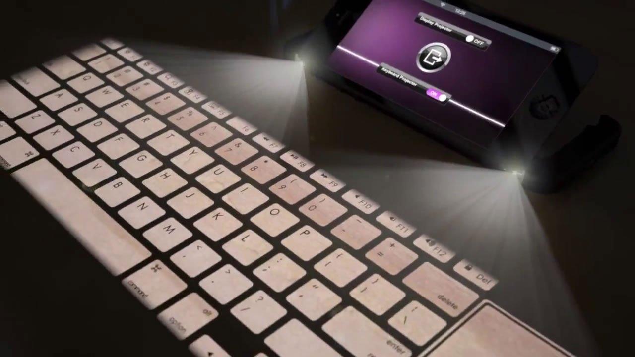 VIDEO IPhone 5S Mit Mac OS X Beamer Laser Keyboard