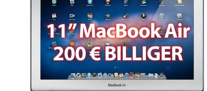 MacBook Air 200 Euro billiger