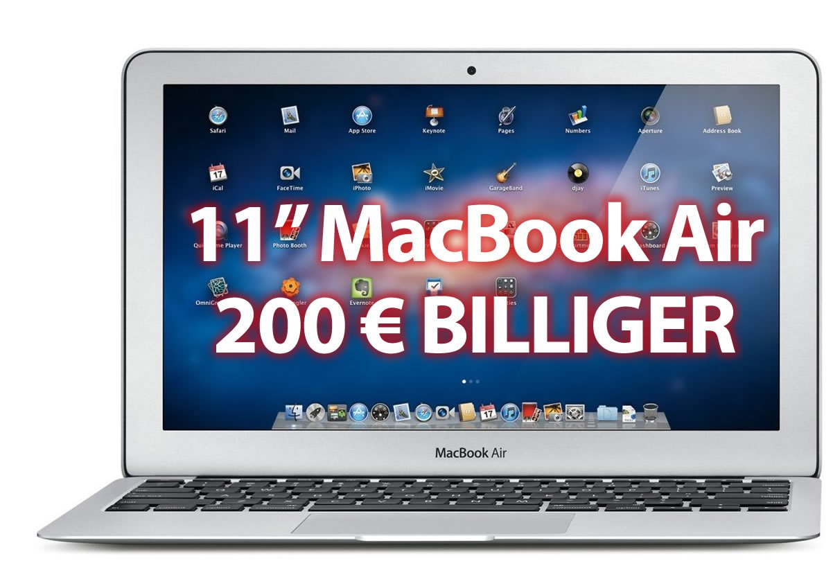 MacBook Air 200 Euro billiger