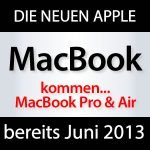2013: neue MacBook Pro & Air