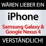 Samsung Galaxy Nexus & Google Nexus 4 wären lieber iPhones! nexus 4 iphone 150x150