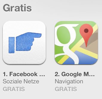 Facebook Poke stupst Google Maps vom Thron!