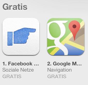 Facebook Poke stupst Google Maps vom Thron!