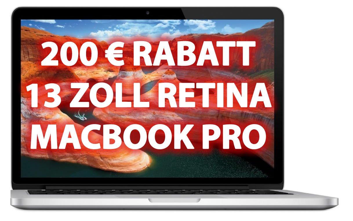 zuschlagen 200 euro billiger 13 retina macbook pro. Black Bedroom Furniture Sets. Home Design Ideas