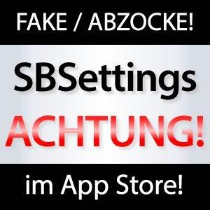WEITERSAGEN: SBSettings im App Store ist FAKE!
