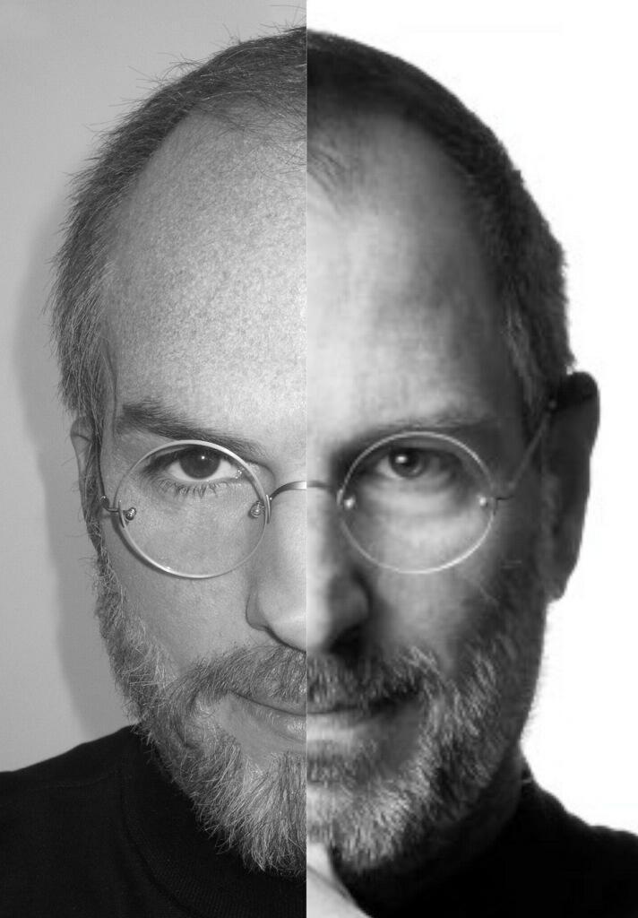 Vergleich: Ashton Kutcher vs. Steve Jobs