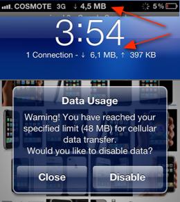 Data Usage Monitor: Download Verbrauch & Internet Daten Volumen in Statusbar anzeigen! 4