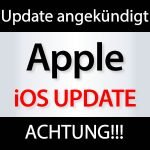 iOS Update angekündigt!