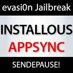 Installous Appsync und Evasi0n Jailbreak