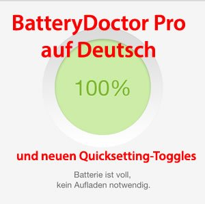 BatteryDoctorPro 3.8.0 in Deutsch mit neuen Settings! (Cydia Tweak BETA)