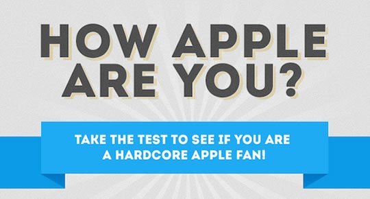 HOW APPLE ARE YOU? Der Hardcore Apple Fanboy Test! how apple are you banner