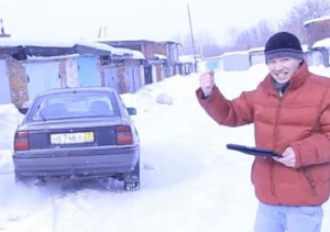 Video: Russen steuern Auto mit iPad!