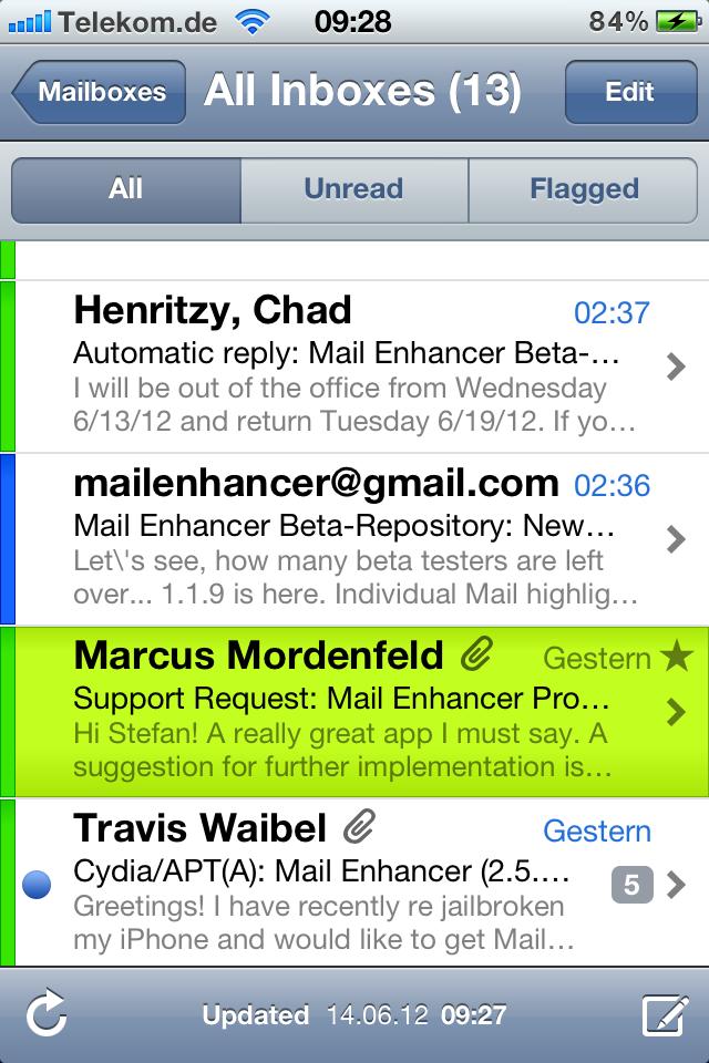 Mail Enhancer Pro iOS 6 kompatibel!
