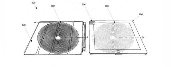 apple kabellos ipad akku laden mit apple smartcover patent. Black Bedroom Furniture Sets. Home Design Ideas
