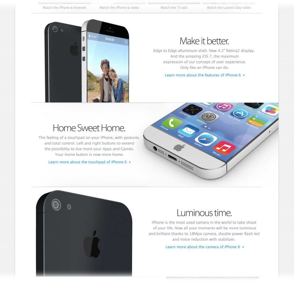 iphone 6 mit ios 7 the sign of design. Black Bedroom Furniture Sets. Home Design Ideas