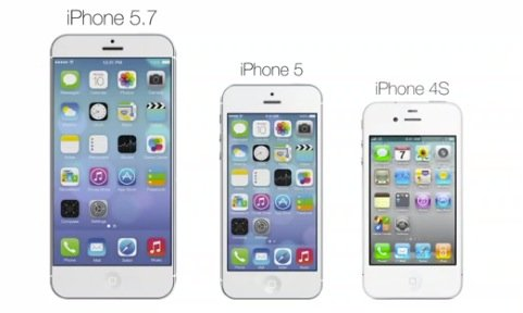 Apple iPhone 5.7:  5,7 Zoll FullHD iPhone mit Quad Core A7 CPU und iOS 7 (Video) apfeleimer20130622 39478