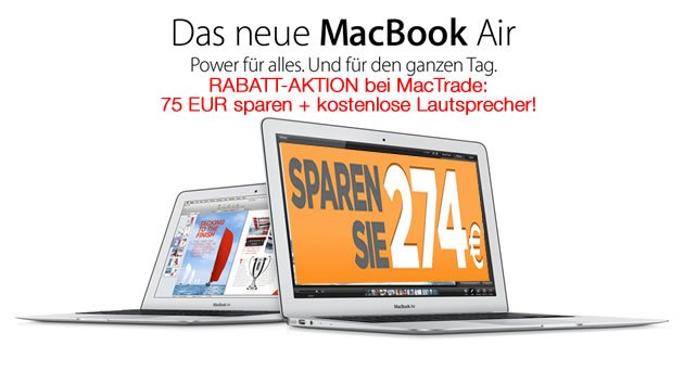 neue macbook air billiger