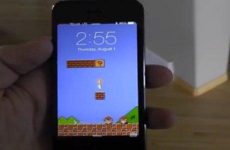 iOS 7 Super Mario Panorama Wallpaper für iPhone 5 & iPhone 4S (Download & Video) 3