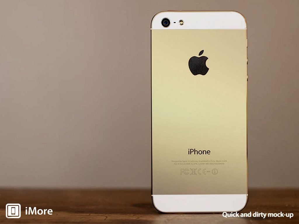 Goldenes iPhone 5S  gold iphone 5s mockup imore fixed 1024x768