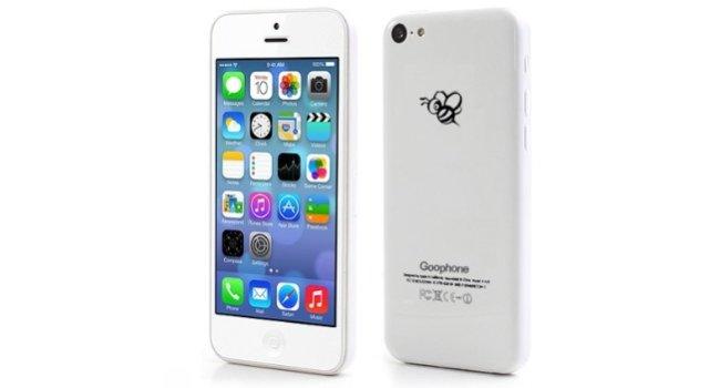 goophone 5c iphone 5c china klon f r 99 dollar mit biene. Black Bedroom Furniture Sets. Home Design Ideas