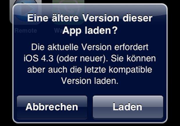 Rettung für alte iPhones: App Store lädt letzte kompatible Version, WhatsApp auf iPhone 3G! 3
