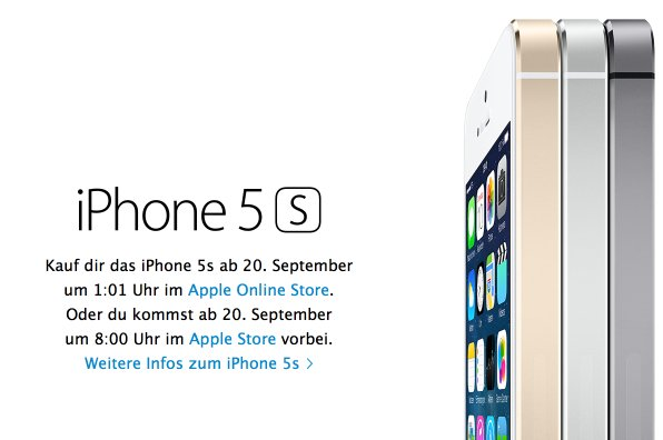 apple iphone 5s email