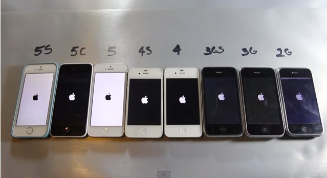 Ultimativer iPhone 5s Speed-Test gegen iPhone 5c, 5, 4s, 4, 3GS, 3G und iPhone 2G! 9
