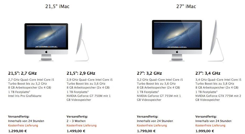 Neue iMacs 2013 mit Haswell CPU  Neue iMacs 2013...