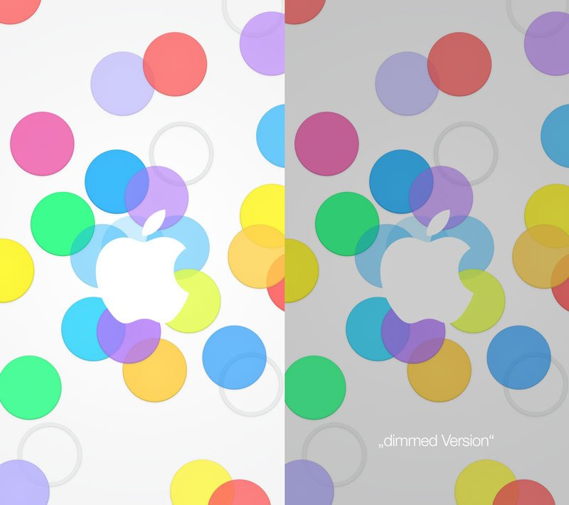 Download: Bunte iPad & iPhone Wallpaper Apple iPhone Event 2013 2