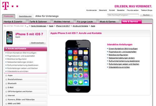 zu fr h telekom nimmt iphone 5 mit ios 7 hilfe aus dem netz. Black Bedroom Furniture Sets. Home Design Ideas