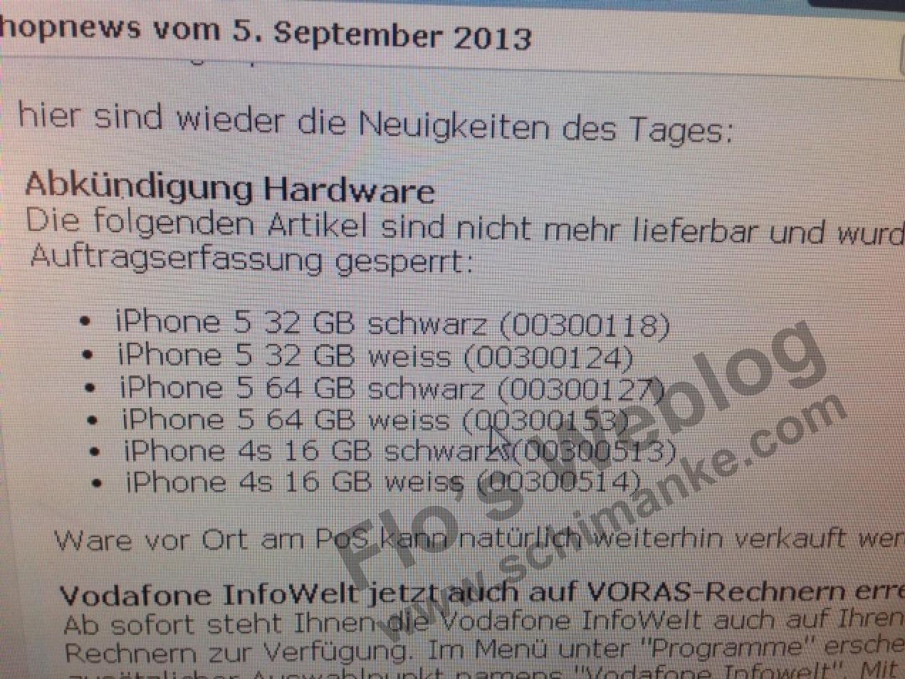 Vor iPhone 5S / 5C Verkaufsstart: Vodafone nimmt iPhone 5 & 4S aus dem Programm 1