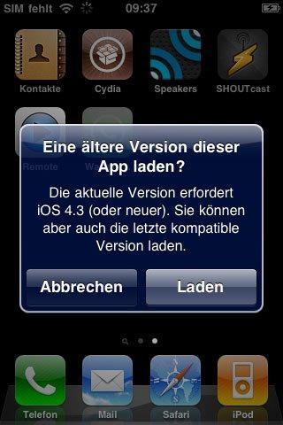 WhatsApp auf iPhone 3G installieren!
