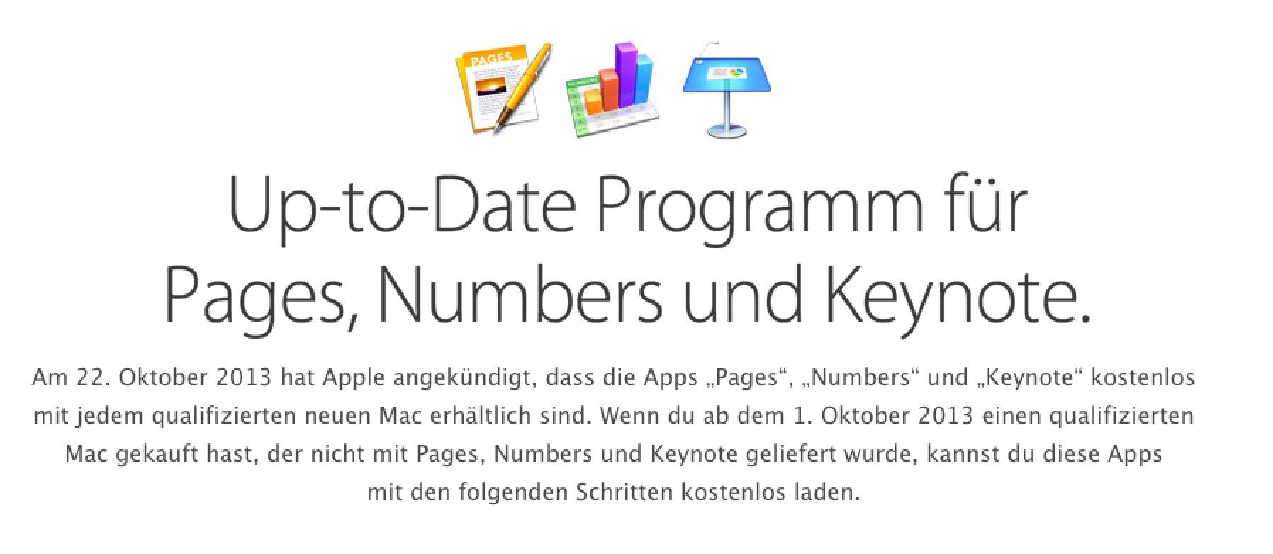 Apple glaubt an Euch! Pages, Keynote, Numbers kostenlos für