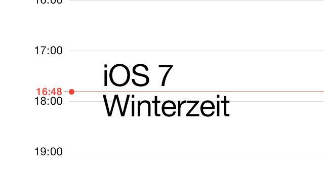 iOS 7 Zeitumstellung, Wetter, Kalender und KEIN iOS 7 Weckerbug! 1