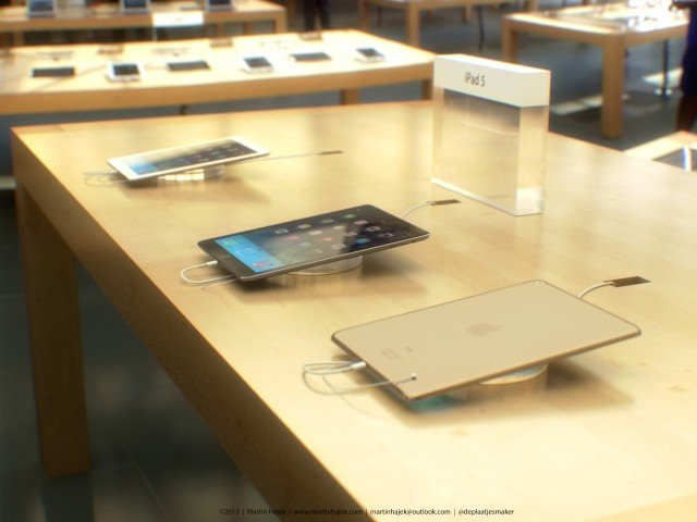 Goldenes iPad 5 mit Touch ID im Apple Store 1