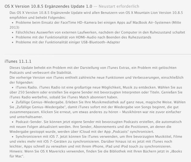 itunes 11-1-1 osx 10-8.5 update