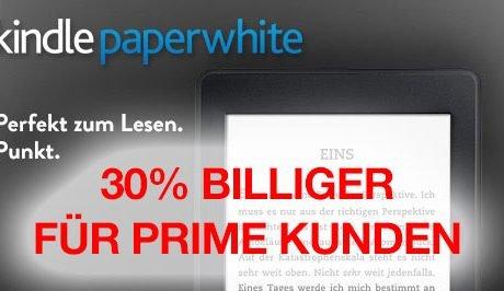 KINDLE99: Neuer Kindle Paperwhite für 99 Euro! 30 EUR billiger für Amazon Prime Kunden! 9