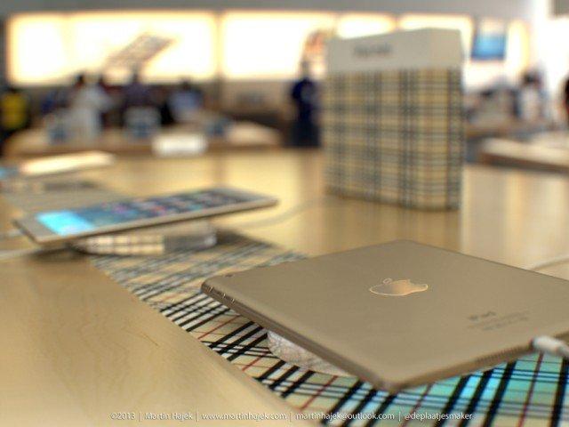 iPad mini 2 in gold und Burberry im Apple Store 4