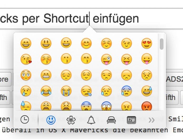 Sonderzeichen Smileys