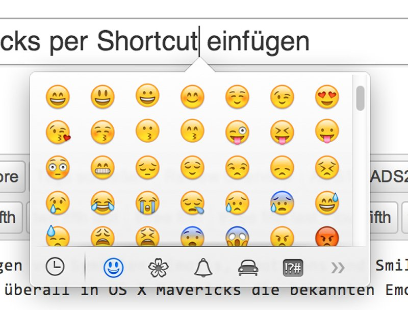 TIPP: Emojis, Smileys, Symbole in OS X Mavericks per