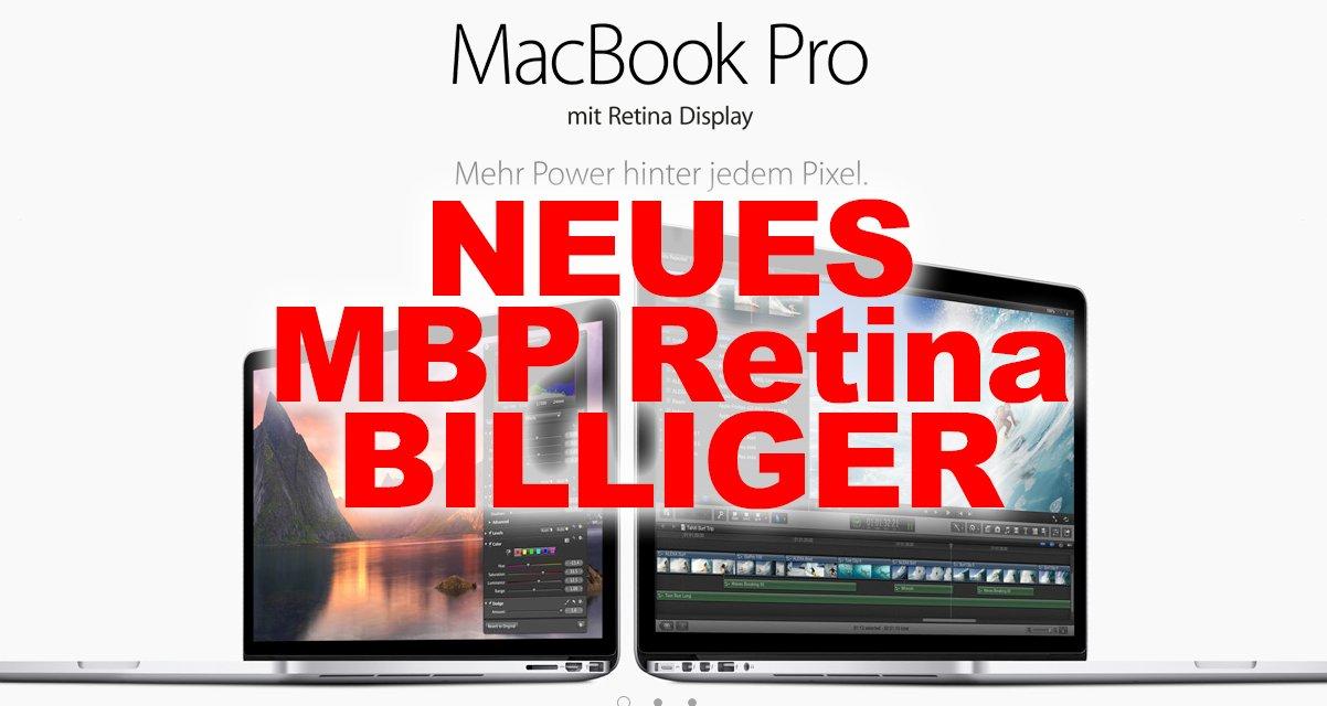 aktion neue 2013 apple macbook pro retina billiger. Black Bedroom Furniture Sets. Home Design Ideas