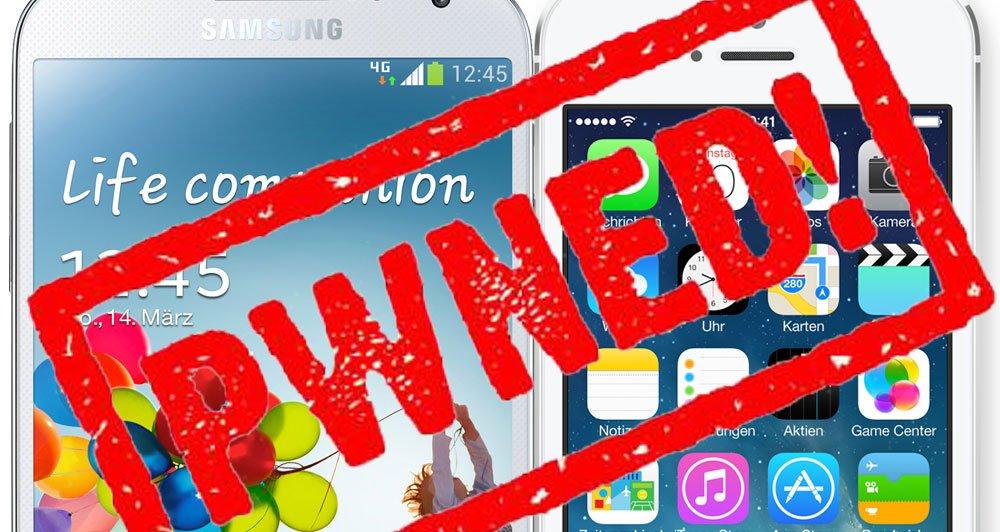 Pwn2Own: Samsung Galaxy S4 & iPhone mit iOS 7.0.3 & iOS 6.1.4 gehackt! 1