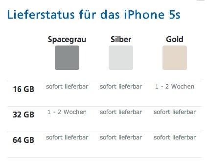 52f844af47 Apple iPhone 5s sofort lieferbar bei O2, kurze Lieferzeit iPhone 5s bei  Telekom