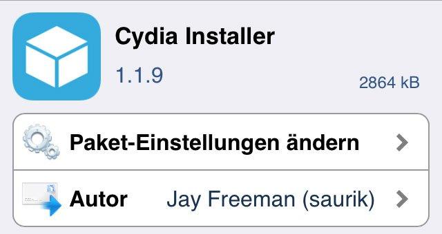 Cydia 1.1.9 Update für iOS 7 8