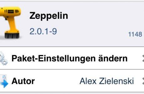 Zeppelin 2.0 für iOS 7: iPhone Betreiber Logo ändern (iOS 7 Cydia Tweak)   9