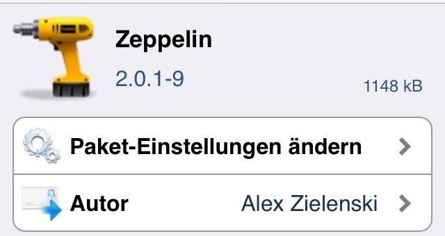Zeppelin 2.0 für iOS 7: iPhone Betreiber Logo ändern (iOS 7 Cydia Tweak)   10