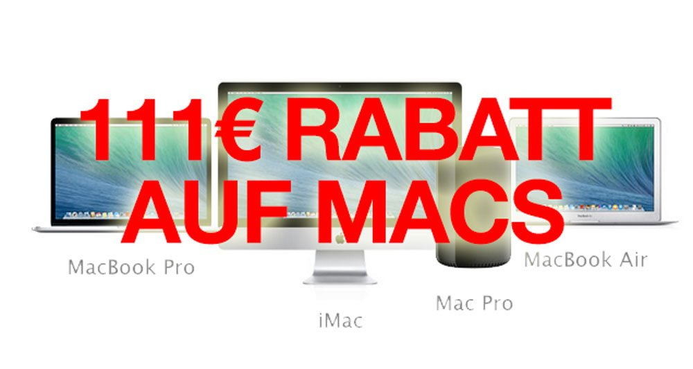 Apple iMacs & Macbooks billiger kaufen? 111 Euro Rabatt auf Macs bei Mactrade! 1