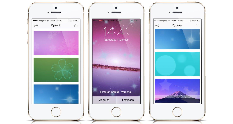 iDynamic für iOS 7: eigene dynamische iPhone Wallpaper & Hintergrundbilder 1