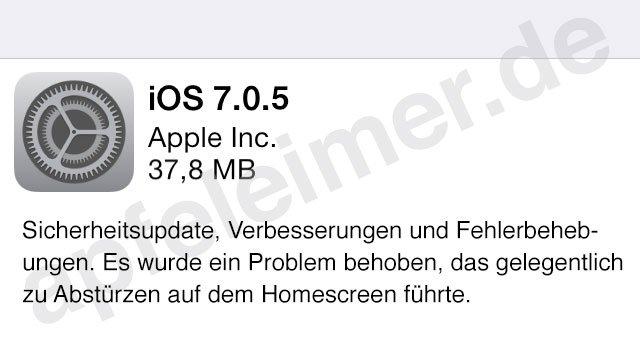 iOS 7.0.5 / iOS 7.1 in Kürze, Apple behebt iPhone Abstürze!  4