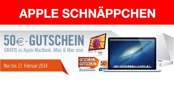 Apple-Schnäppchen: 50 Euro GRATIS-Gutschein bei Cyberport! 9